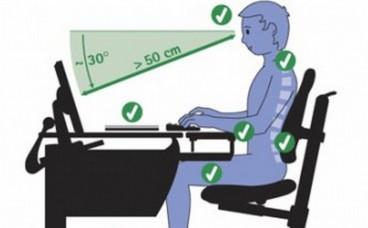 Як правильно облаштувати робоче місце за комп'ютером?